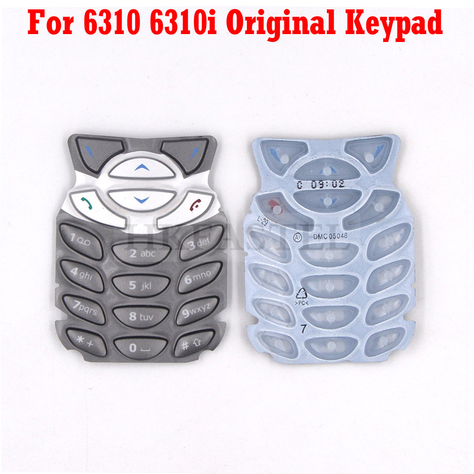 Original New keyboard For <font><b>Nokia</b></font> 6310 <font><b>6310i</b></font> New Mobile Phone keypad replacement Cover Case parts Free Shipping image