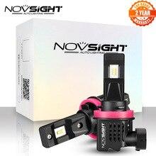 NOVSIGHT Led H11 H8 H9 Auto Nebel Lampe 1:1 Mini Design 55W 12000LM 6000K Weiß LED Nebel Licht lampen Auto Zubehör