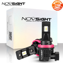 Bulbs NOVSIGHT Car-Accessories Car-Fog-Lamp LED White 6000K H8 55W H9 12000LM 1:1 Mini-Design