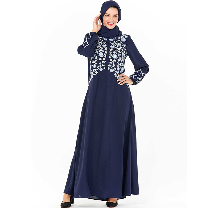 Plus Size Floral Abaya Dubai Hijab Muslim Dress Muslim Women's Abaya