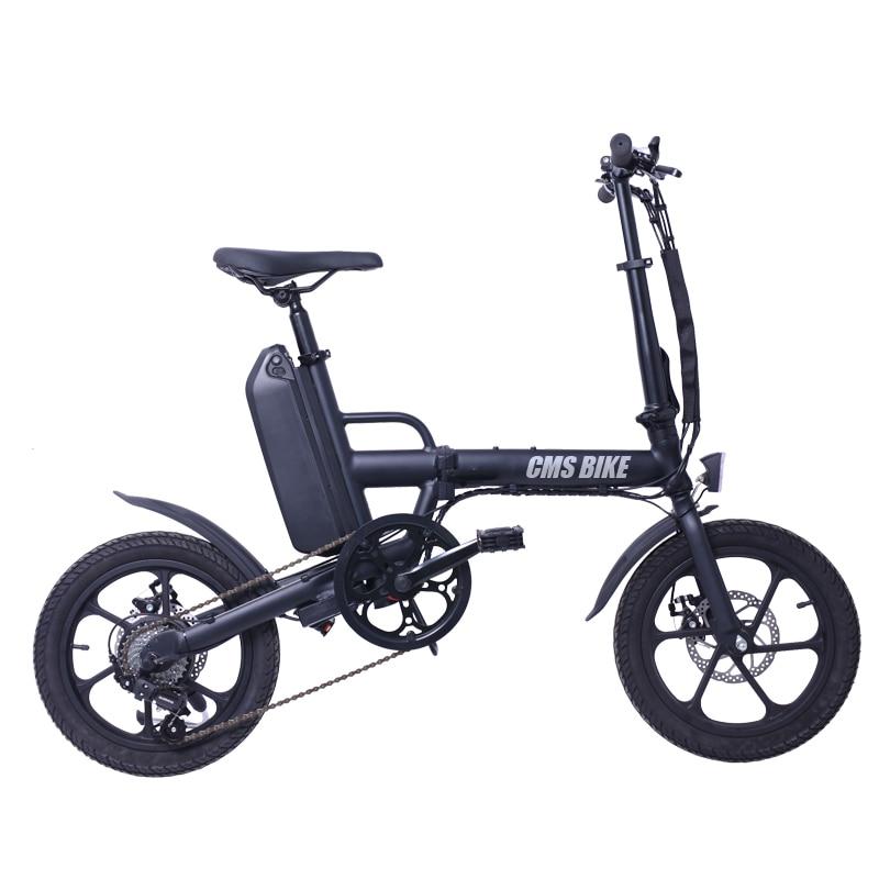 16 inch folding electric bike 6 speed folding ebike with disc brake 1