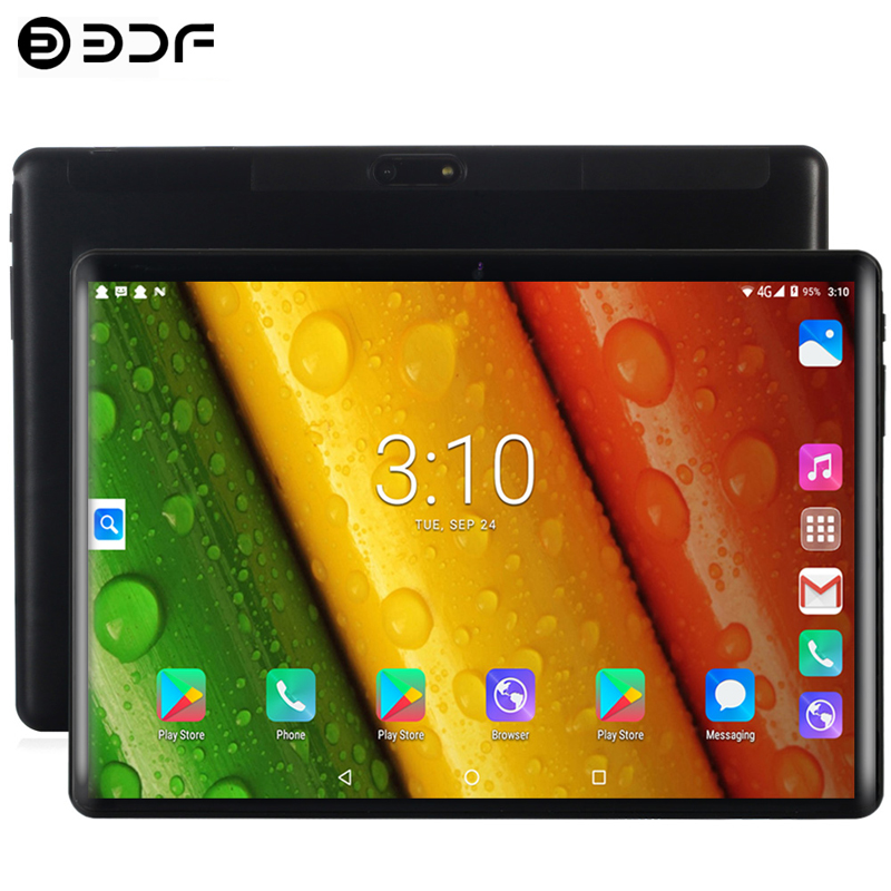 10.1 Inch Tablets Android 7.0 4G/3G Phone Call Octa Core 4GB/64GB Dual SIM Wi-Fi Bluetooth 4.0 GPS 2.5D Tempered Glass Tablet PC