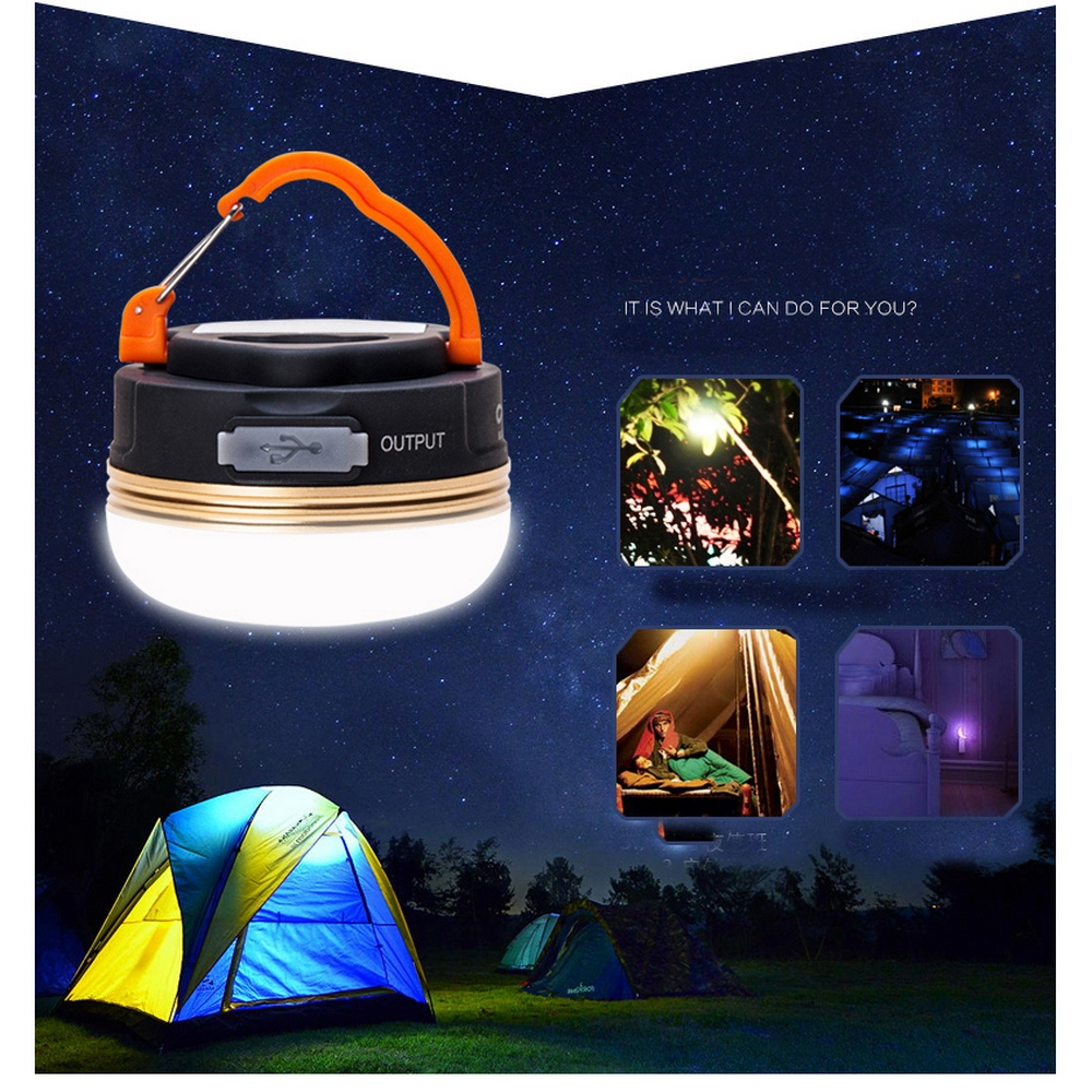 LED Camping Light USB Rechargeable Bulb for Outdoor Tent Lamp Portable Magnet Lanterns Emergency Lights for Camping BBQ Hiking