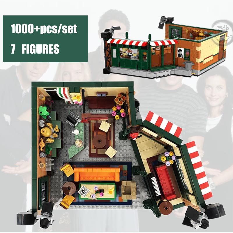 New Classic TV Series American Drama Friends Central Perk Cafe Fit Lepingings Friends Building Block Bricks 21319 Toy Gift Kid