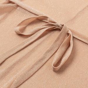 Image 5 - Sehen obwohl Gossamer Strand cover up Sexy bikini 2020 schärpe gürtel Lange strand kleid Gold tunika kimono oansatz bademode frauen biquini