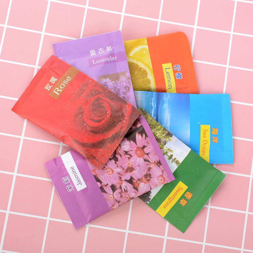 10pcs Natural Smell Incense Wardrobe Sachet Air Fresh Scent Bag Perfume Sachet Bag Aromatherapy Package Wardrobe Supplies Elegant Appearance