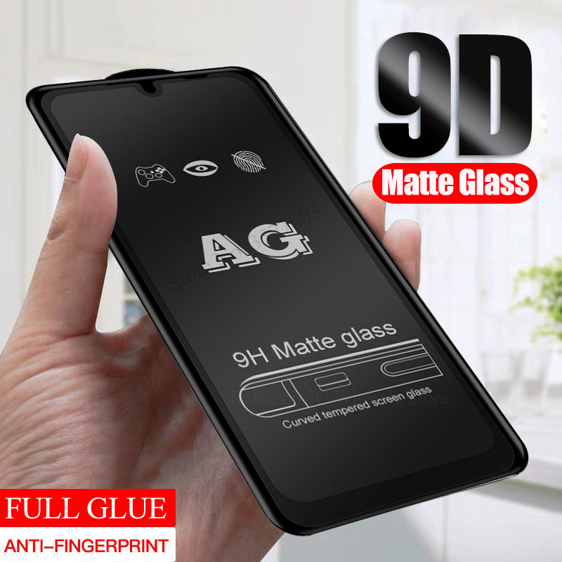 9D Matte <font><b>Glass</b></font> For <font><b>Samsung</b></font> A10 A20 A30 A40 A50 A70 frosted protective Glas On The For Galaxy <font><b>A</b></font> 10 <font><b>20</b></font> 30 50 70 screen protector image