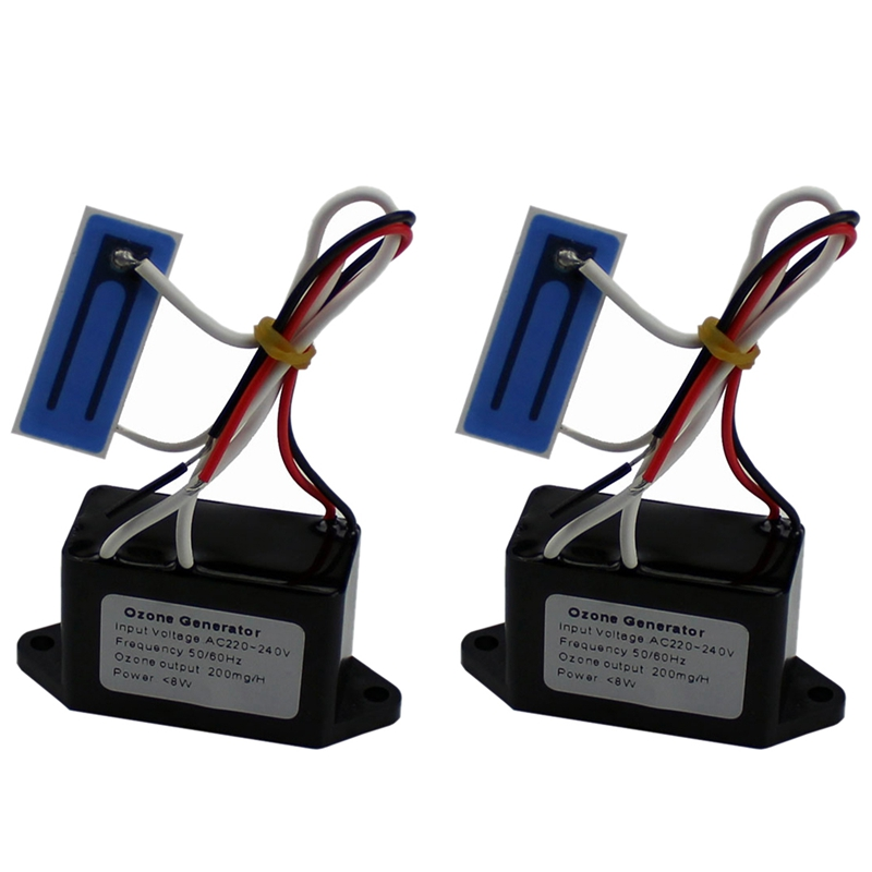 2Pcs 12V/220V Air Purifiers For Home Ozone Output Density 200 Mg/H Ozone Generator