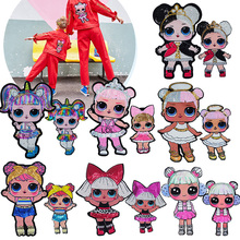 Doll Sequin Patches Set For Girls Clothes Diy Cute Stickers Iron Clothing Backpacks On Jackets