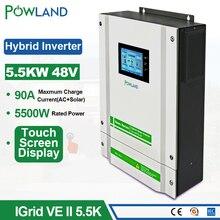 Onduleur solaire hybride à écran tactile, 220/48V, 5500W, V dc, 90a, MPPT, chargeur solaire, avec capteur CT