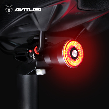 Q5 Flashlight For Bicycle Bike Bike Rear Light Auto Start/Stop Brake Sensing IPx65 Waterproof LED Charging Cycling Taillight