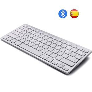 Spanish teclado Bluetooth Keyboard Wireless Spanish Keyboard for Mac iPad iPhone iOS Android Windows Smart TV