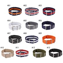 18 20 22 mm Brand Army Sports nato fabric Nylon Bands Buckle belt watchband accessories For 007 James bond Watch Strap(China)