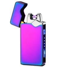 Magical USB Charging Pulse Lighter Double Arc Cigar Plasma Lighter Windproof Electronic Cigarette Li