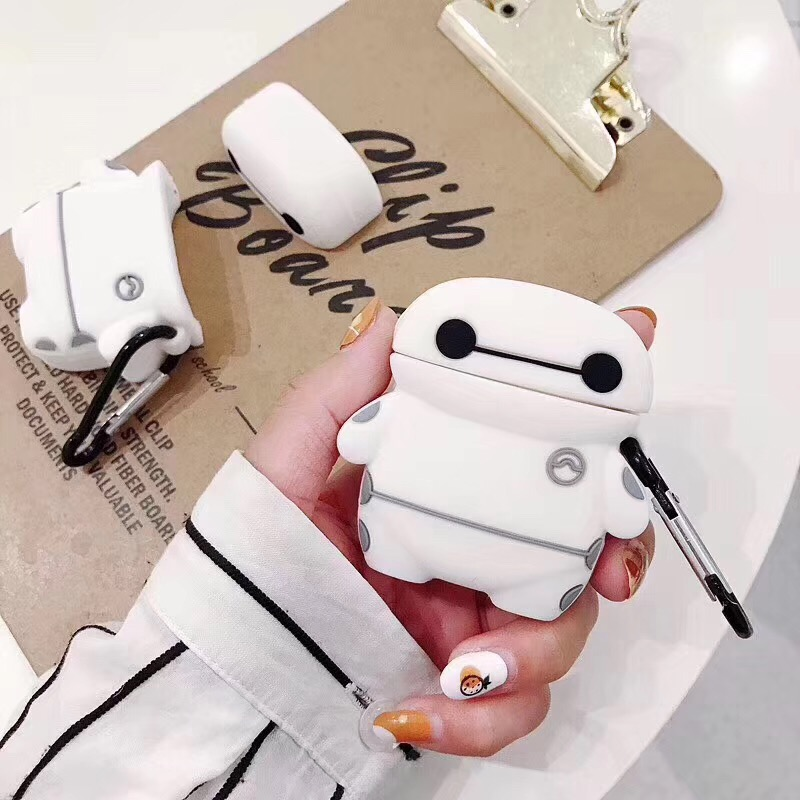 Cute Cartoon For AirPods Case Cover Silicone Earphones Dinosaur Flower Cute Case Soft Holder For Airpods 2 Protective Cover