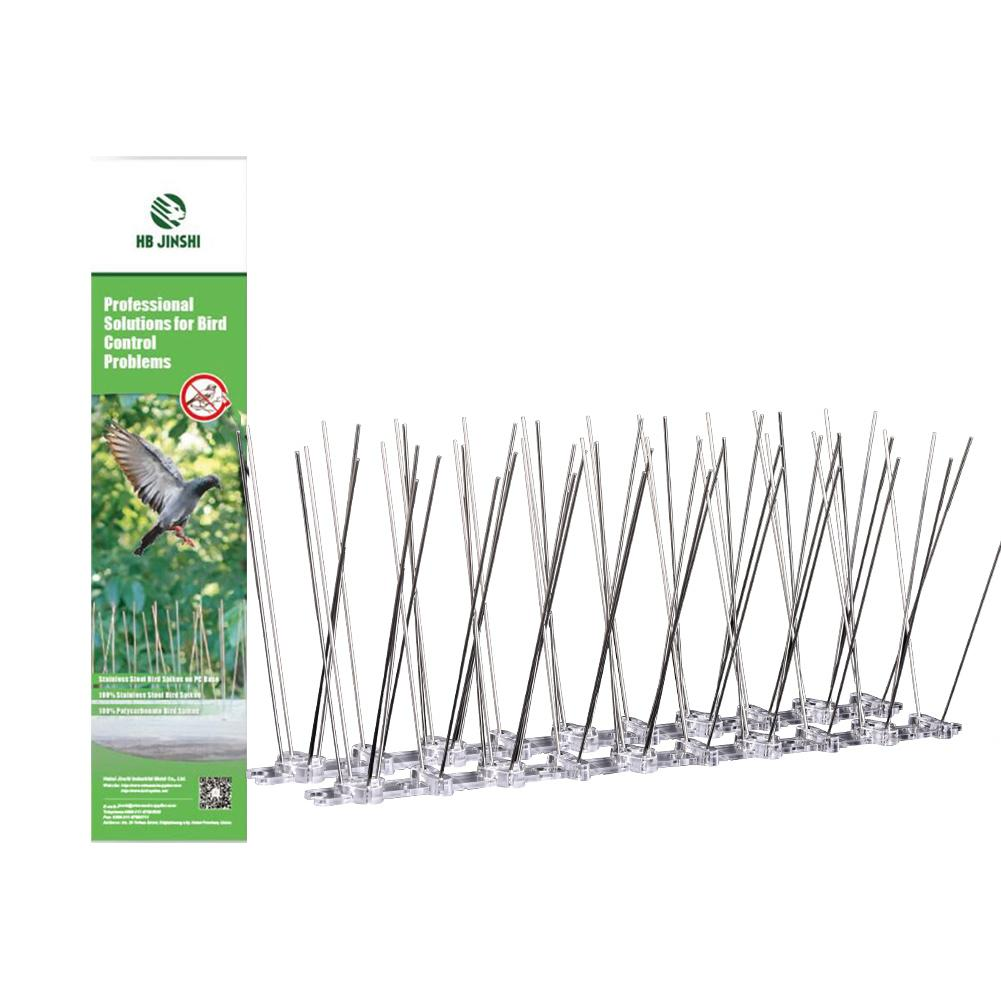 Stainless Steel Bird Repellent Spikes Anti Pigeon Nail Bird Deterrent Tool Pest Control Pigeons Owl Small Birds Fence Repeller