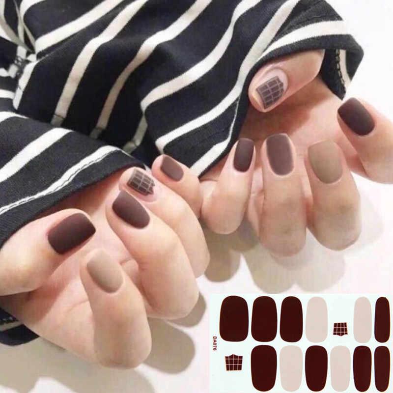 Solidna Pure Color naklejka do paznokci okłady kalkomanie Manicure samoprzylepne naklejane ozdoby do paznokci naklejki na paznokcie prawdziwe polskie paski Drop Shipping