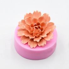 Silicone Mold Flower-Soap Fondant Cake-Decorating-Tool Chocolate Peony DIY New 3D Birthday-Cake