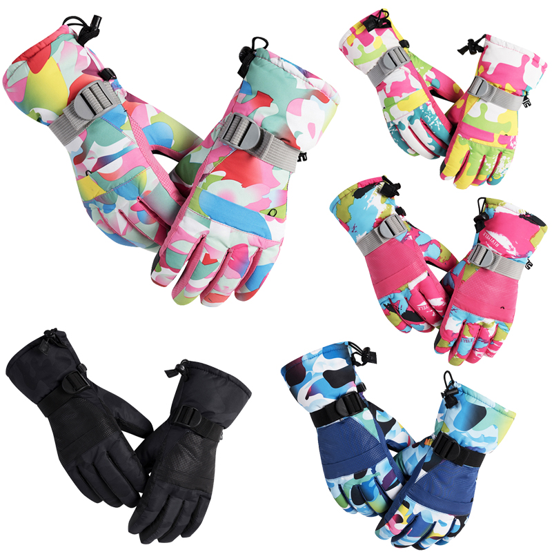 New Women Men Ski Gloves Snowboard Snowmobile Motorcycle Riding Mountain Children Winter Snow Gloves Windproof Waterproof Unisex