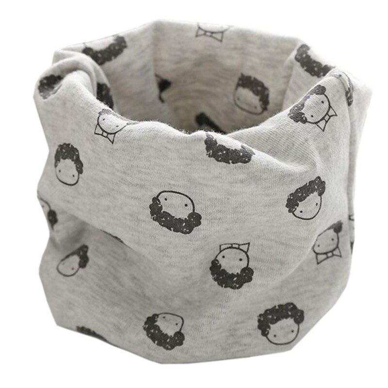 Новинка; Модный хлопковый шарф для маленьких девочек; осенне-зимний шарф для маленьких мальчиков; Детский шарф с круглым вырезом; Детские шарфы; волшебный шейный платок - Цвет: grey head