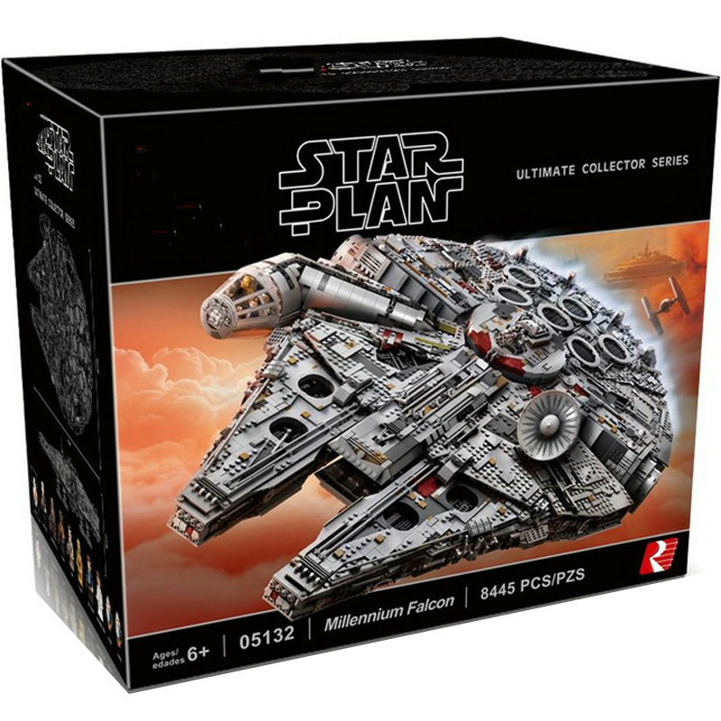 05132 Ultimate Millenniums Star Wars Series Falcon Model Building Blocks Set Star Ship 75192 Toys Collectors Bricks Kids Gift