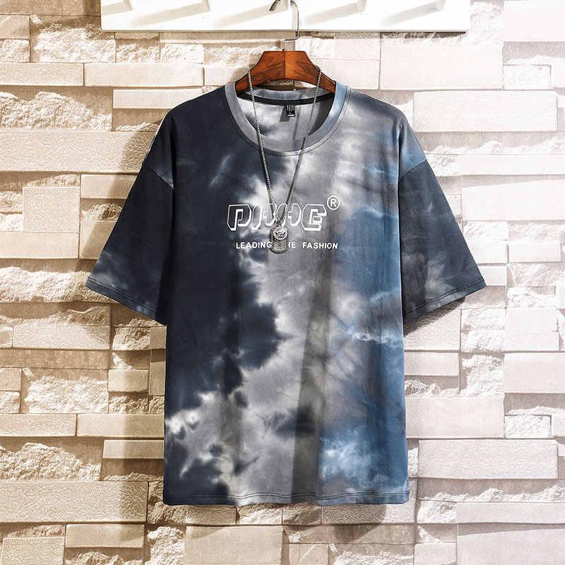 SingleRoad Mens T T-Shirt 2020 di Modo di Estate di Grandi Dimensioni Tie Dye Hip Hop Giapponese Streetwear Harajuku Tshirt T-Shirt Da Uomo In Cotone