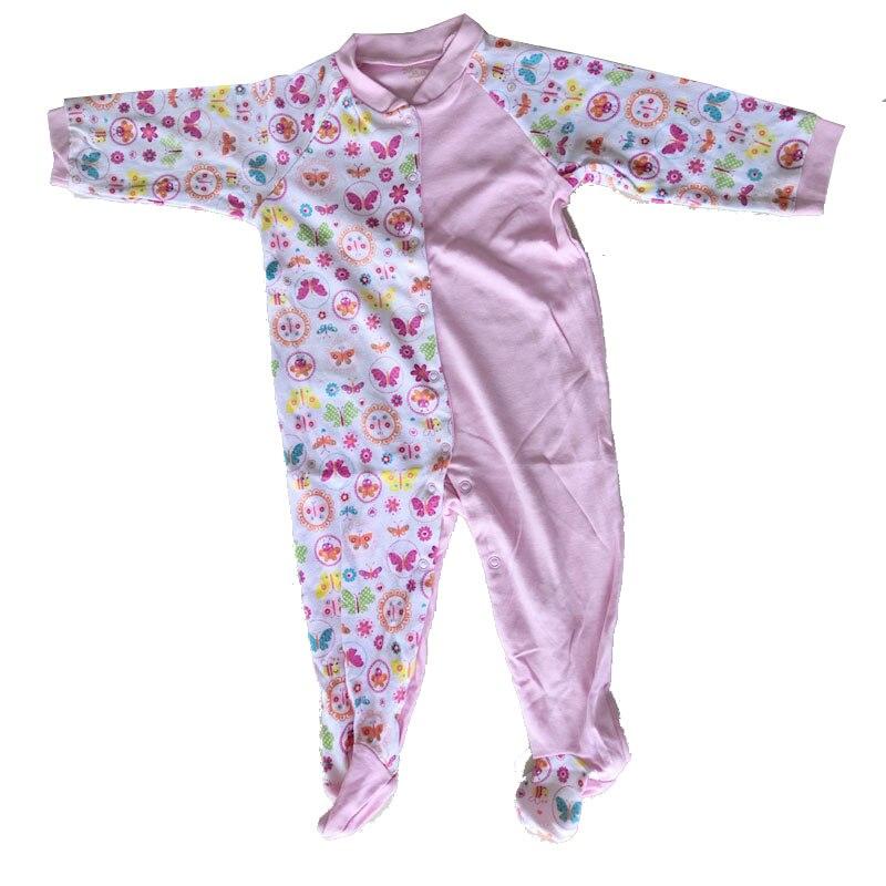 Для младенцев, детская одежда с мультипликационным рисунком футболка для мальчиков и девочек с длинным рукавом Папа Мама Детские комбинезоны Babygrow, спальные комплекты, размер ребенка ползунки 0-24Months - Цвет: NUM1