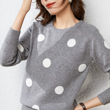 LHZSYY 2019Autumn Winter New Women Round Neck Knit Sweater fashion Dot Bottoming shirt Soft Wild Pullover Warm Female