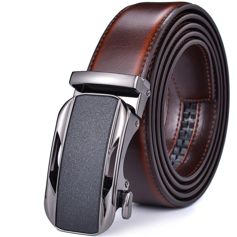 Men's Belt, Ratchet Dress Genuine Leather Belt For Men With Automatic Buckle