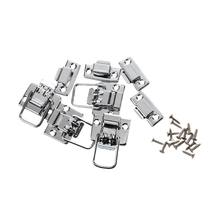 4 x Toggle Catch Latch Case Trunk Suitcase Clip Lock Jewelery Box Tool Silver(China)