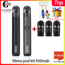 все цены на Electronic Cigarette Vape G-taste Mimo pod kit 450mah battery & 1.3ml pod E cigarette Pod Vape Kit vs justfog MINIFIT/OVNS w01