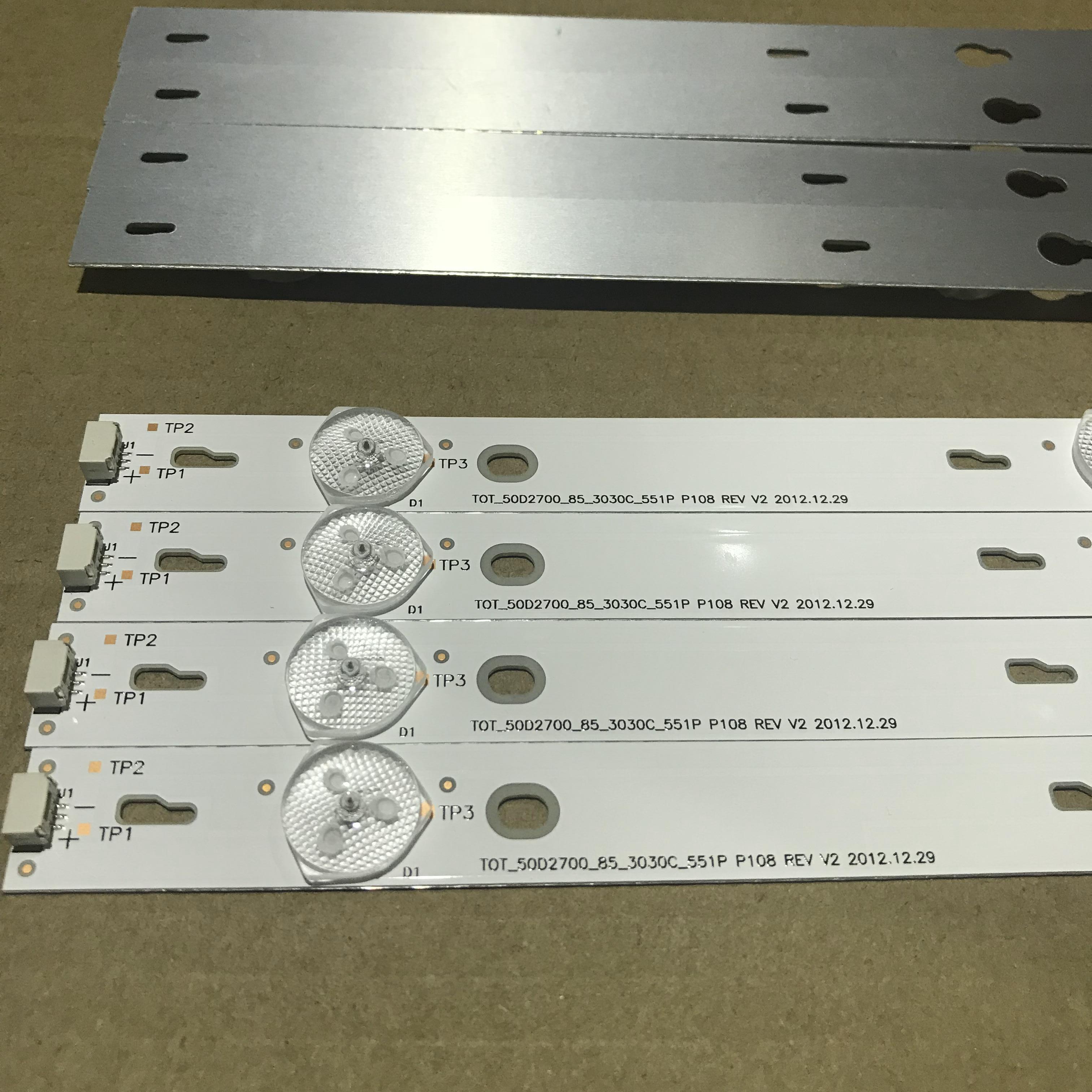 8pieces LED Backlight Strip Lamp For TCL L50F3800A Led Strip 4C-LB500T-YH2 TOT-50D2700-8X5-3030C-5S1P