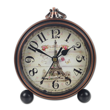 Nuevo reloj despertador Vintage europeo de 4 pulgadas, reloj despertador Retro de Metal para mesita de noche, reloj de mesa con aguja silenciosa, despertador de estudiante para la mañana