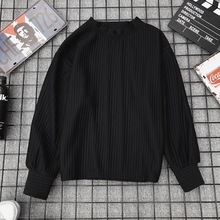 Round Neck Solid Color Long Sleeve Pullovers Sweaters Long Sleeve O Neck Loose Sweater For Women round neck solid color stylish long sleeve men s sweater