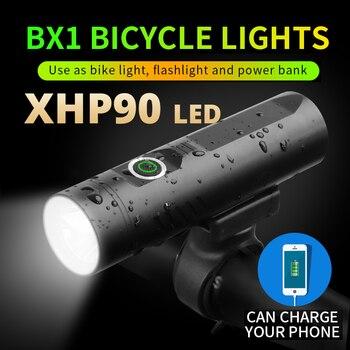 Más Potente 3200mAh P90 P50 L2 linterna para bicicleta T6 luz USB batería recargable bicicleta accesorios como banco de energía