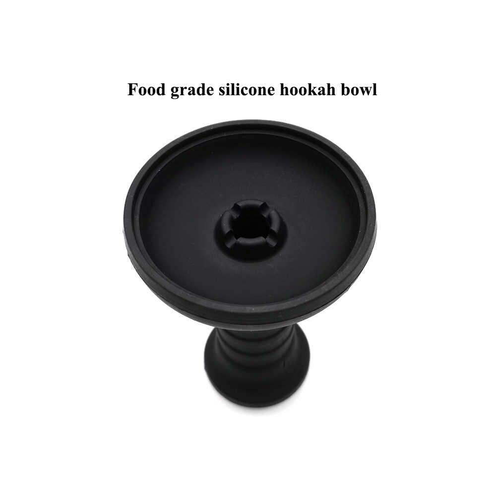 Lomint tigela de narguela de silicone, grande, 1 furo, preta, shisha, acessórios para tabaco LM-281