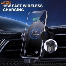 Supporto di ricarica Wireless per auto Qi veloce per caricabatterie magnetico per iPhone 2A per supporto per telefono a induzione intelligente Samsung per Xiaomi