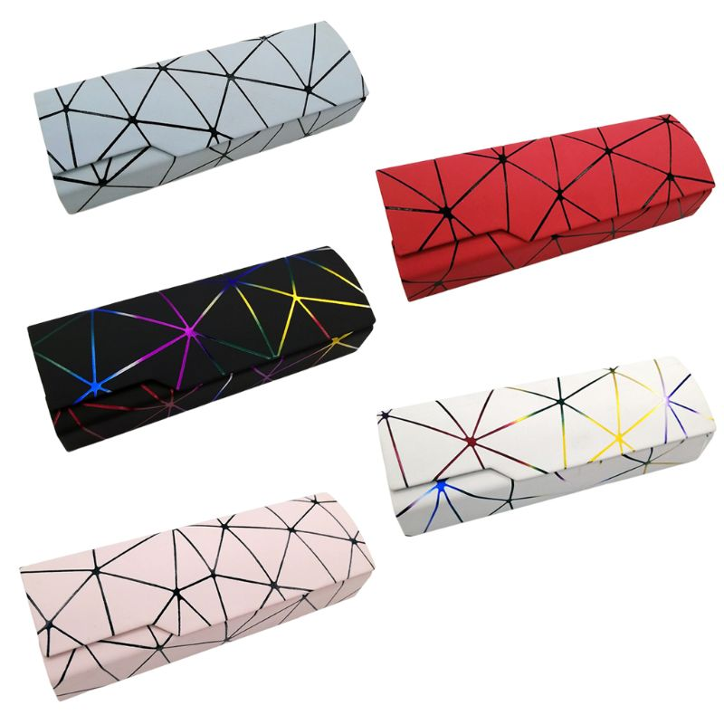 Unisex Fashion Glasses Box Imitation Leather Protective Case Men Women Sunglasses Case Unique Reading Eyeglasses Box Accessories