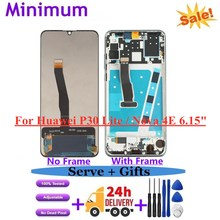 """For Huawei P30 Lite 6.15"""" LCD Display Touch Screen Digitizer Assembly With Frame Replacement For Nova 4E MAR-LX1 MAR-LX2 LCDs"""