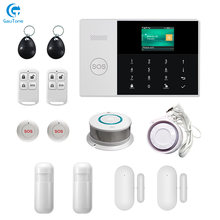 DHL Free Shipping WIFI+GSM Home/Office Building/Factory Wireless Burglar Smoke Fireproof Security AlarmSystem APP Remote Control(China)