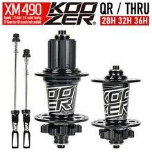 Neue Koozer XM490 Naben Versiegelt 4 Lager MTB Mountainbike Hub Hinten Hub 10*135mm QR 12*142mm 28 32 36 Löcher Disc Bremse Fahrrad Hub