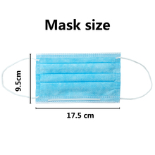10/50/100pcs Face Masks Disposable Earloop Face Mouth Masks Non-Woven 3 Filter Anti Pollution Mask Filter Face Masks N95