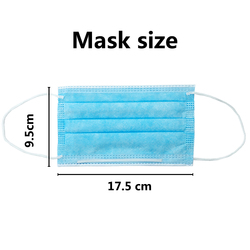 10/50/100pcs Face Masks Disposable Earloop Face Mouth Masks Non-Woven 3 Filter Anti Pollution Disposable Face Masks N95 4