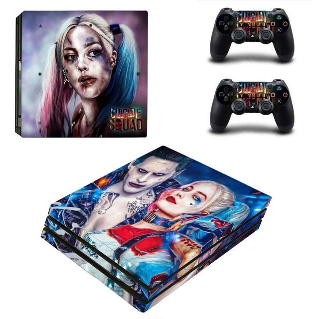 Tự Sát Đội Hình Harley Quinn PS4 Pro Miếng Dán Play Station 4 Miếng Dán Skin Decal Cho Máy Chơi Game PlayStation 4 PS4 Pro Tay Cầm & bộ Điều Khiển Da