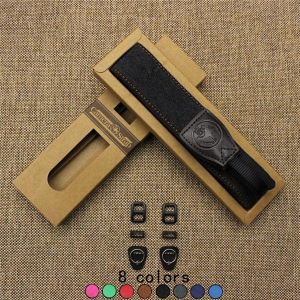 Adjustable Chamude Strap Ethnic Style Photo Camera Shoulder Belt DSLR Neck Jean Cowhide Material Non-slip Soft