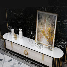 Marble Living-Room Sofa-Table/tv-Stand Stainless-Steel for High-Quality