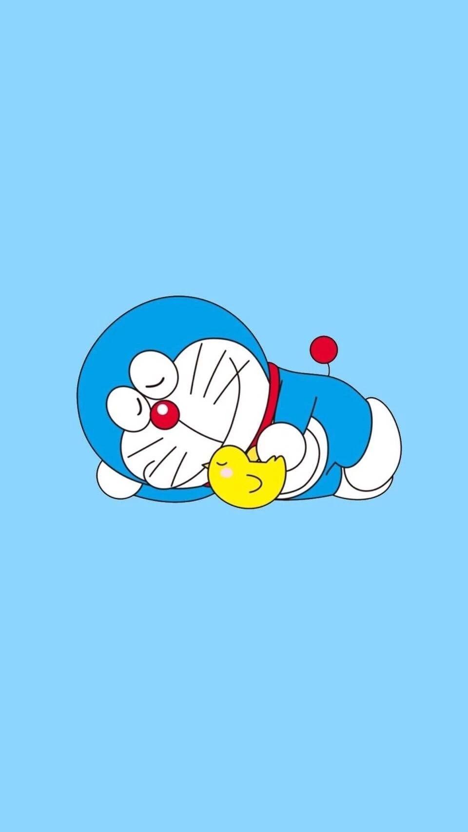 哆啦A梦壁纸:可爱哆啦A梦蓝胖子手机壁纸插图79