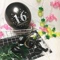 10 шт., латексный шар на 12 дюймов с днем рождения, 16, 18, 21, 30, 40, 50
