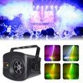 Wuzstar 60 + 4 padrões rg laser projetor luz luzes de discoteca dj rgb festa iluminação para decoração palco com som ativado