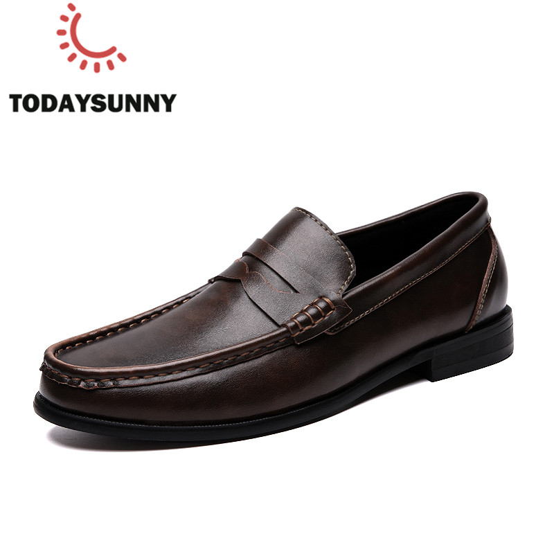 <font><b>Men</b></font> Loafers <font><b>Shoes</b></font> Spring Summer Soft Genuine Leather Sneakers <font><b>Men</b></font> Moccasins <font><b>Shoes</b></font> Breathable Slip on Driving <font><b>Shoes</b></font> Size 39-46 image